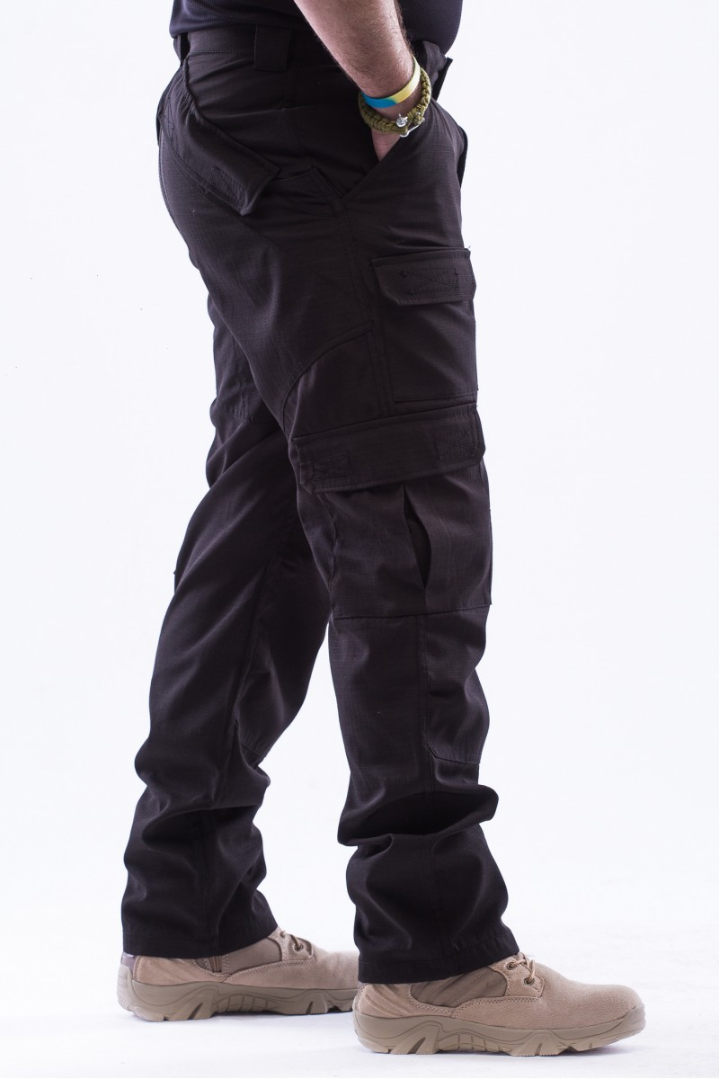 """Тактические брюки """"Trunk"""" черные рип-стоп"""